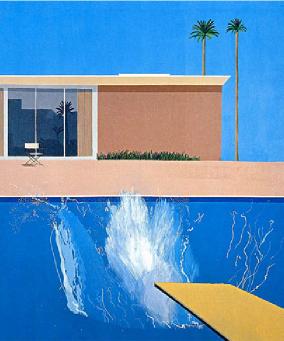 Tableau de David Hokney ayant inspiré Piscinelle