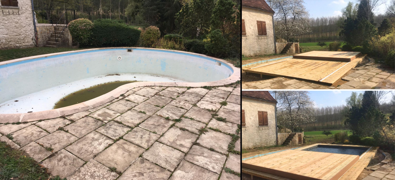 Rénovation dans une piscine existante
