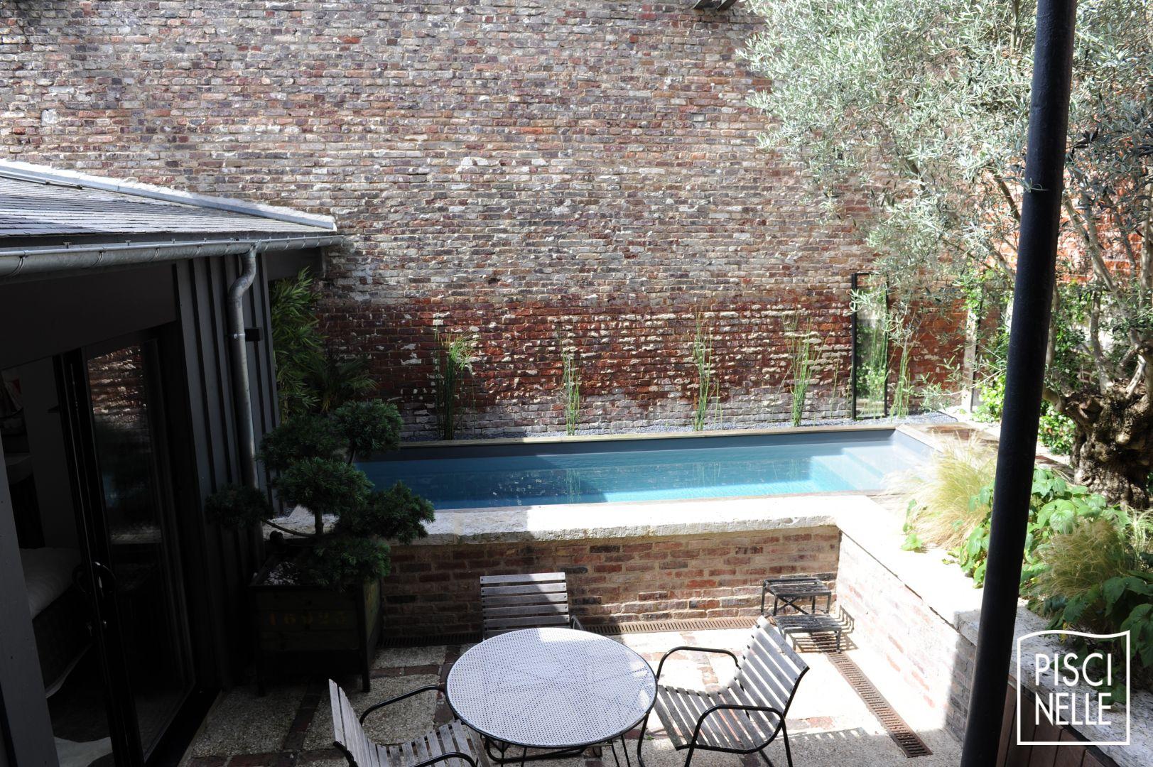 Couvrir Une Cour Intérieure une mini piscine hors-sol esthétique et économique à rouen