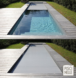Automatic pit-mounted cover ensuring pool safety.