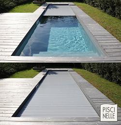Couverture automatique immergée pour la sécurité des piscines.