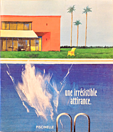 Couverture du catalogue Piscinelle en 2003 inspirée par David Hockney