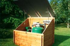 swimming pool equipment box storage