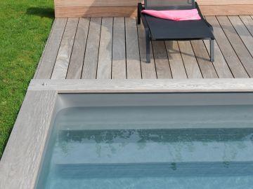 margelles piscine en bois et bords de terrasse