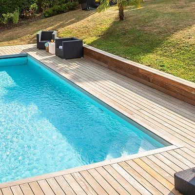 Margelle de piscine en ipé