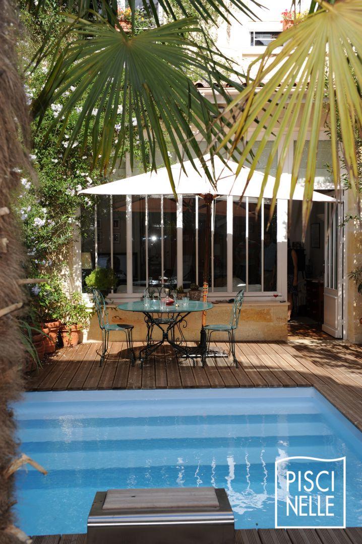 Reportage photo mini piscine c ur de ville de bordeaux for Prix mini maison sur mesure