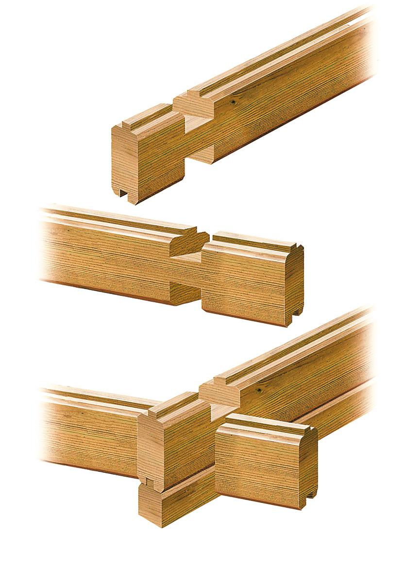 Système de bois massif empilé