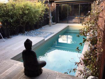 Petite piscine iki sans autorisation administrative de moins de dix mètres carrés - Liner vert argile
