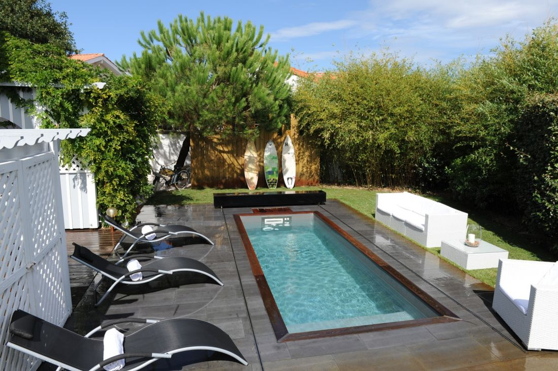 An Iki pool in the Landes department of France near Biscarrosse.