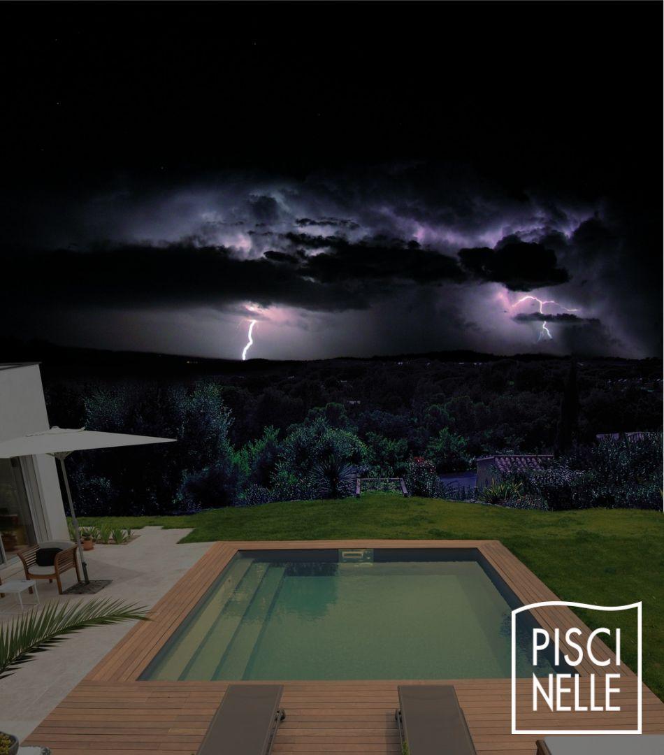 Piscine de nuit on pinterest petite piscine chalets and parfait - Piscine maison nuit limoges ...