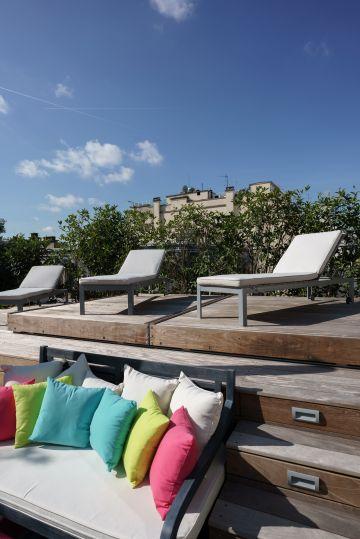 Une fois le Rolling-Deck fermé le précieux espace de ce toit-terrasse parisien peut être réutilisé.