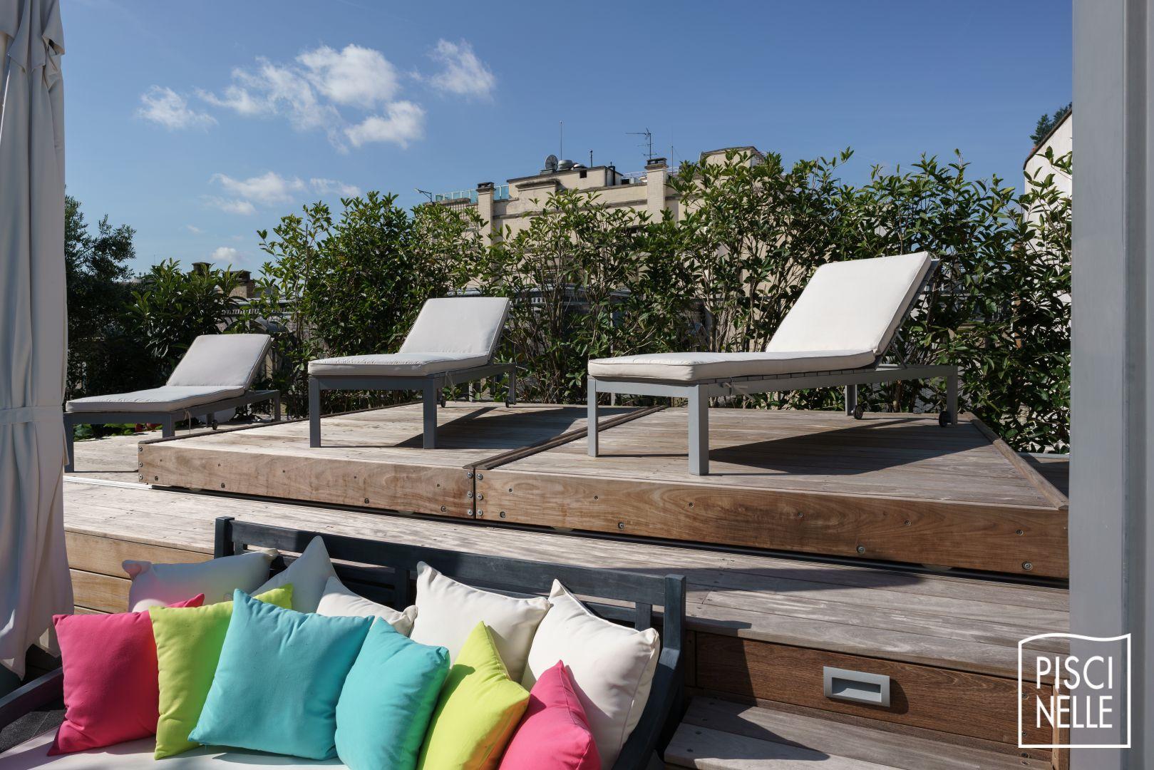 une piscine sur un toit terrasse paris piscinelle. Black Bedroom Furniture Sets. Home Design Ideas