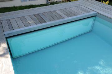 La couverture automatique immergé est un organe de sécurité aux normes et très simple d'usage.