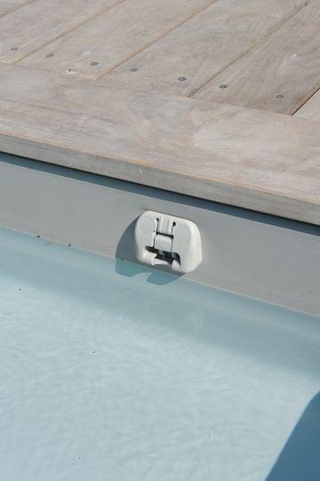 Clips ou patte de verrouillage de la couverture automatique immergée de sécurité.
