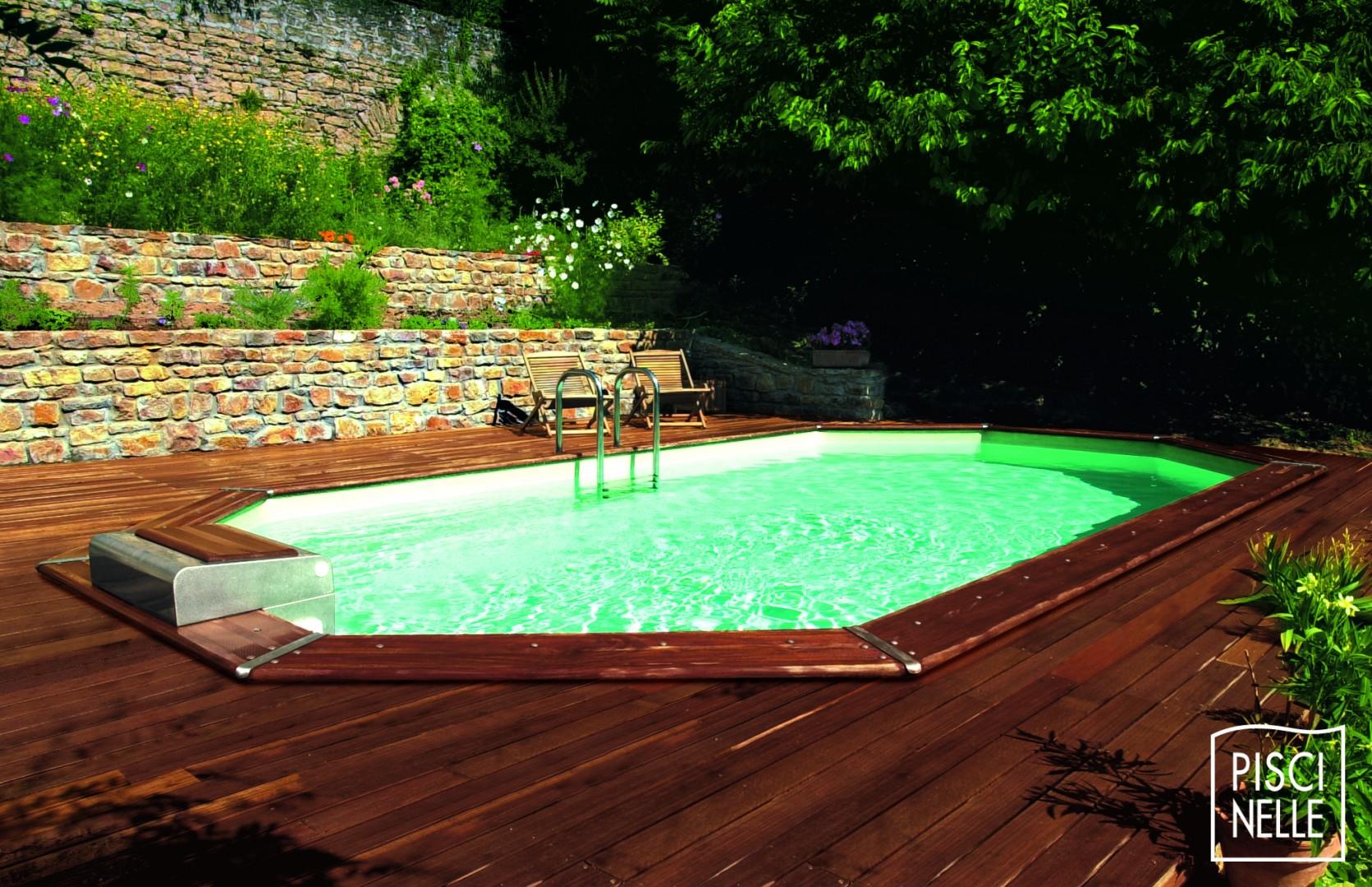 Piscine Bois Avec Terrasse piscine octogonale - modèle rg - piscinelle