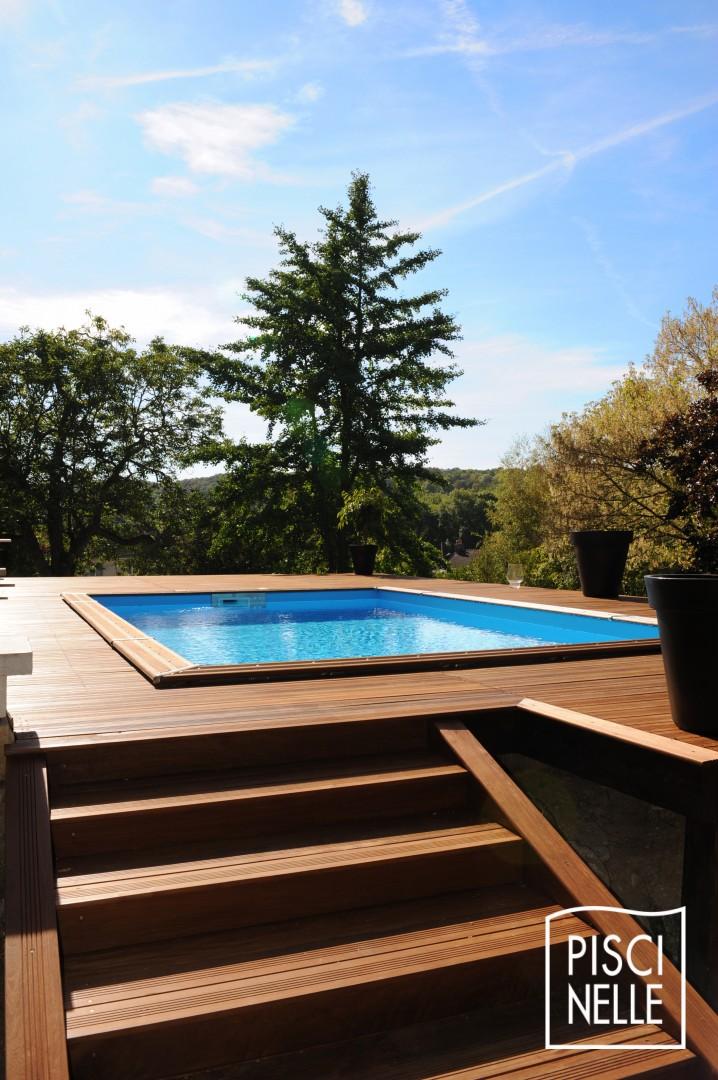 Piscines hors sol piscinelle - Terrasse bois piscine hors sol ...