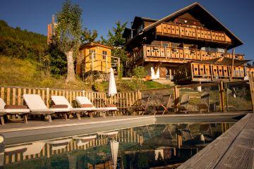 Couché de soleil sur la station de ski
