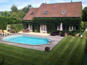 Piscine octogonale Rg avec terrasse