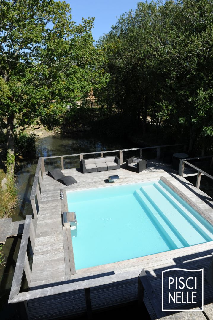 Piscine en beton semi enterr e pictures to pin on pinterest for Piscine semi enterree beton