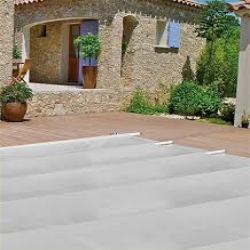 Bar-supported safety cover for swimming pools