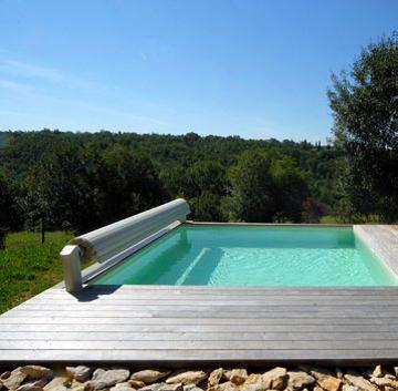 Couverture de sécurité de piscine automatique hors-sol
