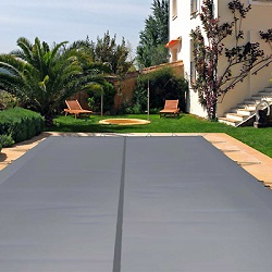 Winter swimming pool cover.