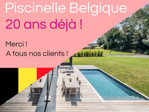 Piscinelle Belgique : 20 ans déjà !