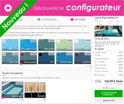 Nouveau configurateur en ligne de devis piscine Piscinelle
