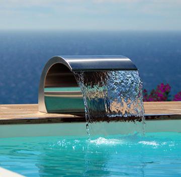 Lame d'eau de piscine en inox 316L