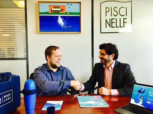 Partenariat entre Piscinelle et blue by Riiot