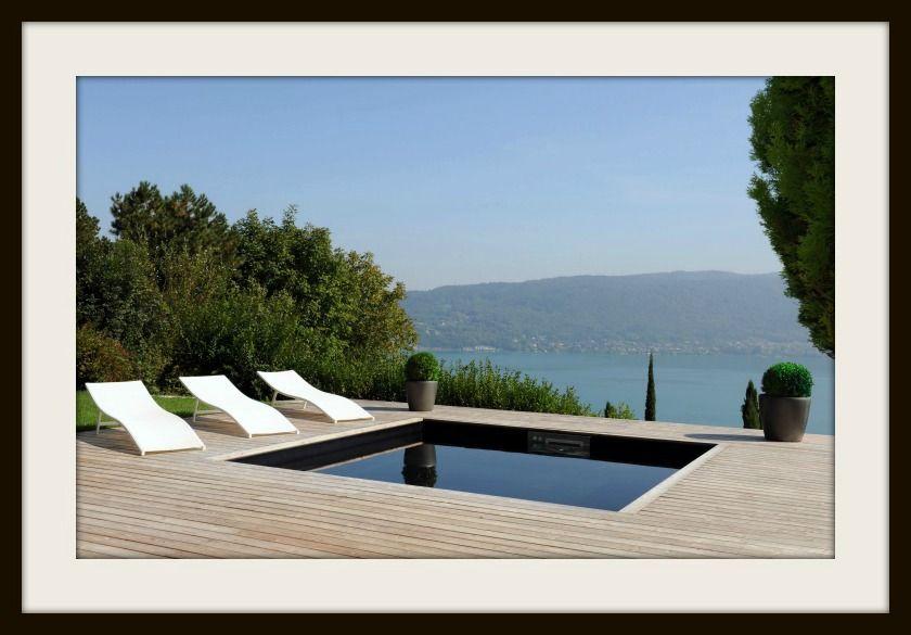 Piscinelle d'Or 2012 - Piscine semi-enterrée design sur le lac d'Annecy