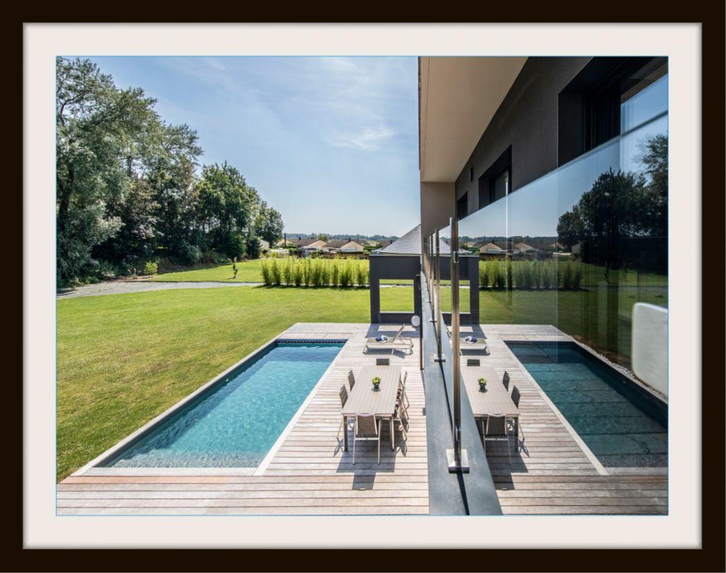 Piscinelle d'Or 2019 - Piscine contemporaine et pure construite en Belgique