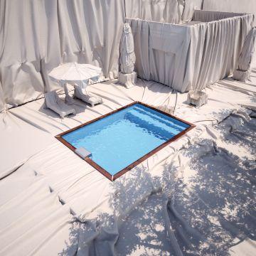 Concept-Piscinelle en hommage à l'artiste Christo