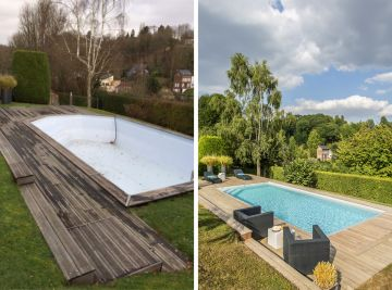 Avant - Après : un exemple de rénovation de piscine par Piscinelle.