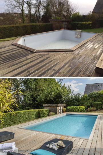 Avant - Après : une rénovation de piscine par Piscinelle.