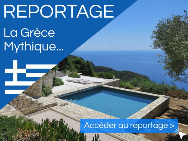 Nouveau reportage photo d'une piscine carrée en Grèce