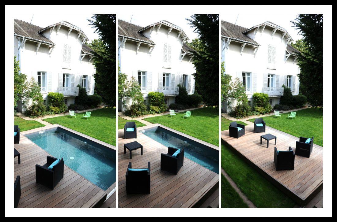 Piscinelle d'Or 2016 - Piscine innovante et contemporaine équipée d'un Rolling-Deck : nouvelle génération de terrasse mobile maline.