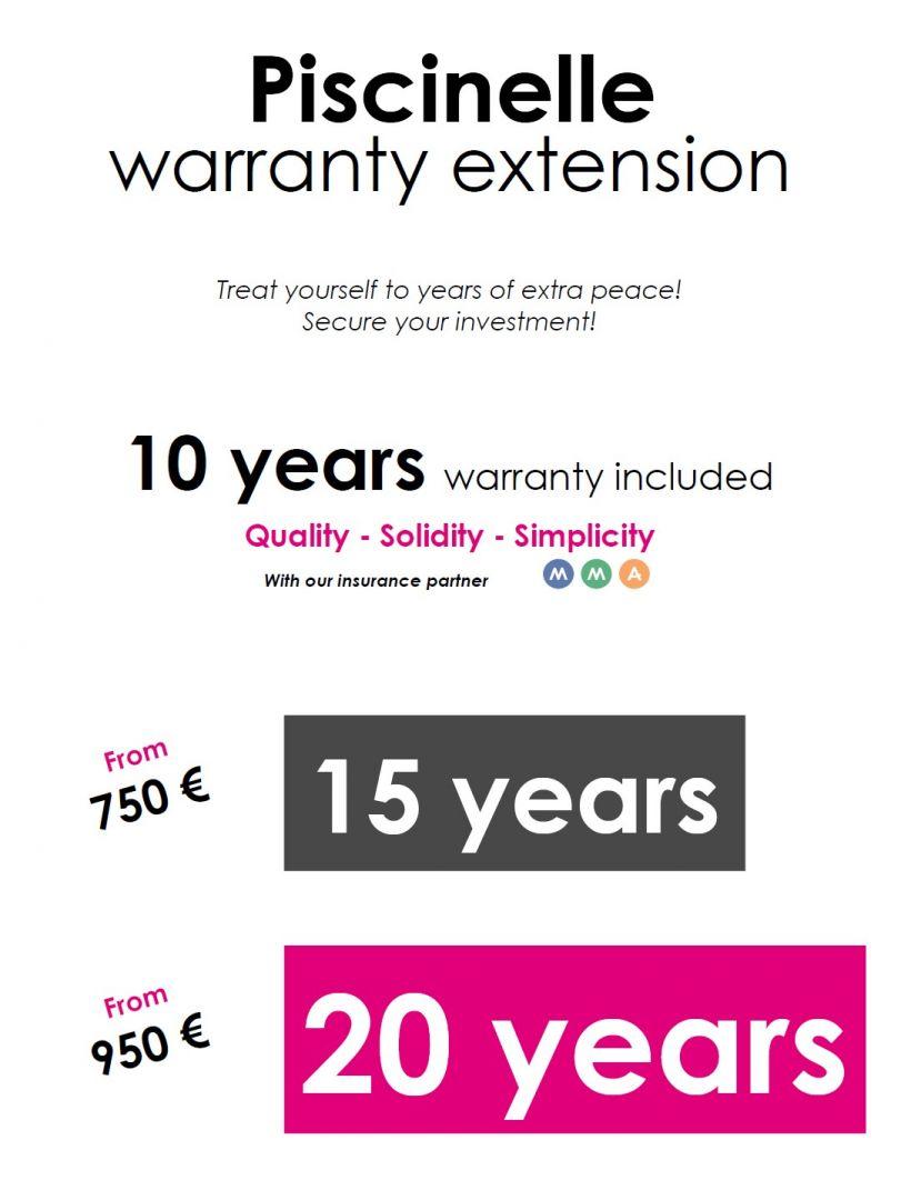 Piscinelle warranty extension