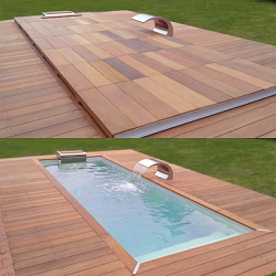 Couverture de piscine en bois d'ipé - Winter Deck Piscinelle