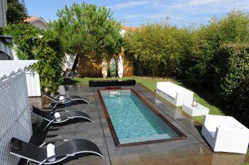 Une piscine Piscinelle installée à Biscarosse