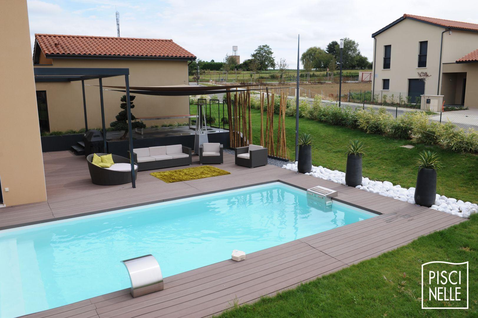 Reportage photo piscine rectangulaire en Gironde - Piscinelle