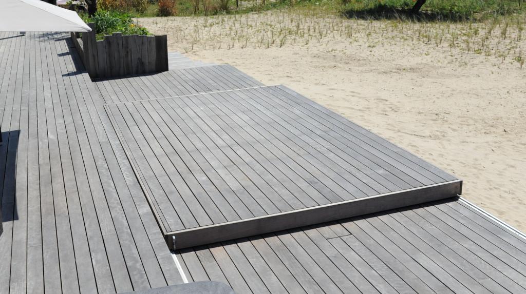 Exemple de Rolling-Deck avec platelage en ipé fourni.