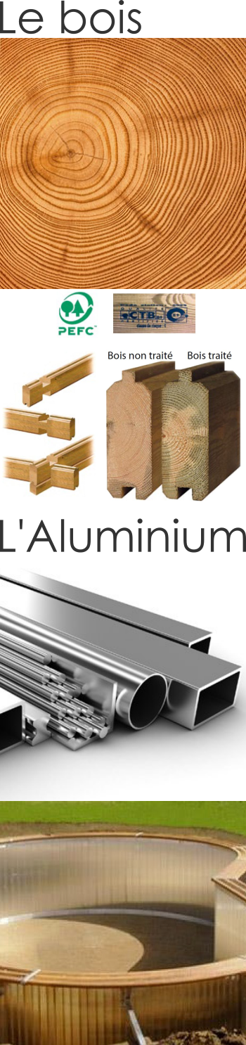 Structure de piscine en bois ou en aluminium brevetée Piscinelle