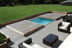 terrasse piscine amovible piscine securité couverture