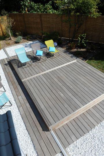 Le Rolling-Deck, une fois fermé et verrouillé constitue une véritable terrasse permettant de recevoir du mobilier et des invités !
